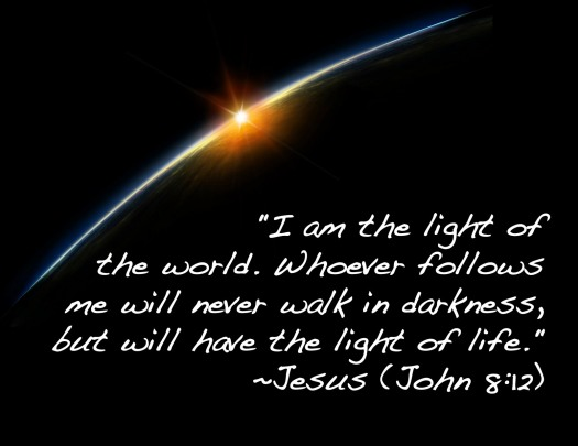 Image result for jesus is the light in the darkness